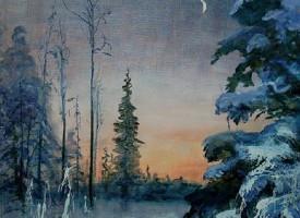 Måne i soloppgang
